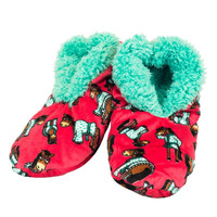 Horse I Don't Do Mornings Fuzzy Feet Womens Slippers