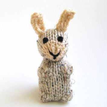 Miniature Easter Bunny Amigurumi - Hand Knitted Stuffed Animal - Plush Doll - Kids Toy Spring Rabbit