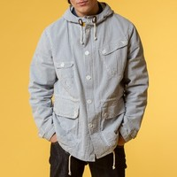 Universal Works Scout Jacket (Relaxed Check Navy / Ecru) | Oi Polloi