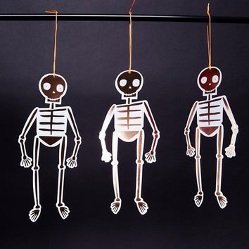Meri Meri Halloween Rose Gold Hanging Skeletons Party Decoration at asos.com