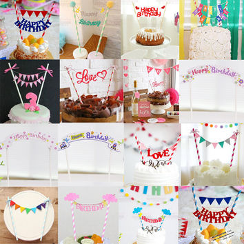 Cupcake Toppers Cute Kids Cake Topper Wedding Baby Shower Decorations Birthday Party Supplies Gift