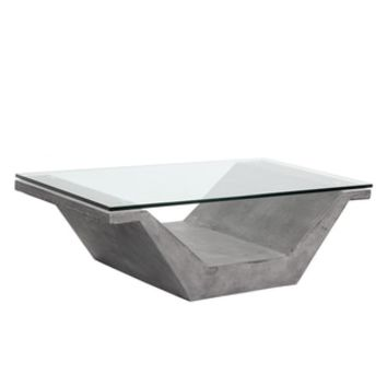Jasper Grey Concrete Coffee Table - Free Shipping Today - Overstock.com - 19654118 - Mobile