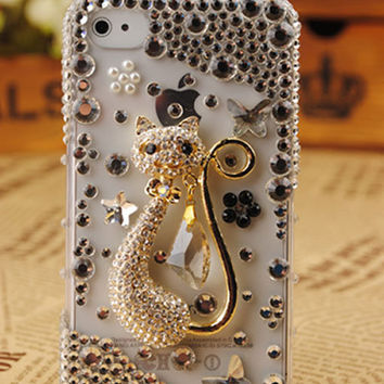 iPhone4 3GS Transparent Shell Cat Cover: gulleitrustmart.com
