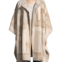 THE ROW Marcella Shaved Mink Cape