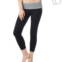 LLD STUDDED CROP YOGA PANTS