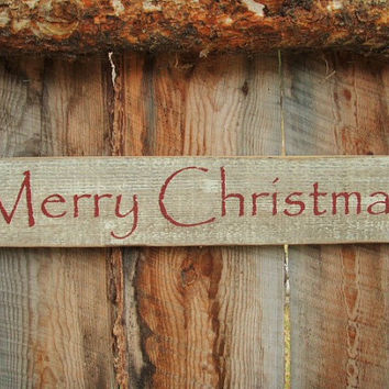 Merry Christmas Sign Rustic Merry Christmas Sign Country Christmas Santa Claus Sign Montana Made Wood Sign Christmas Decor Rustic Home Decor