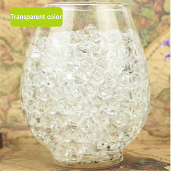 1000pcs Water Plant Flower Jelly Crystal Soil Mud Water Pearls Gel Beads Balls Decoration Vase Crystal Free Shipping DN639-3