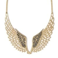 Crystal Accent Wing Bib Necklace  | Claire's