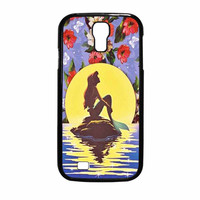 Ariel Little Mermaid Disney Flower Vintage Samsung Galaxy S4 Case