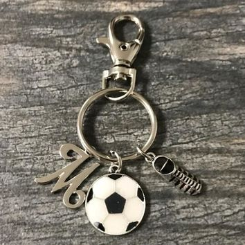 Personalized Soccer Ball & Cleat Keychain