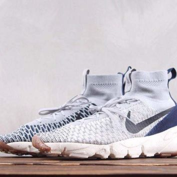 DCCK2 N256 Nike Air Footscape Magista Flyk Running Shoes Grey Blue