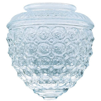 3-1/4-Inch Clear Design Glass Globe, 6-Pack