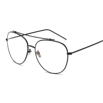 MDIGYN5 Unisex Fashion Brand Designer Aviation Metal Glasses Frame Unique Top Clear Lens Frames Feamle Eyewear Optical Glasses