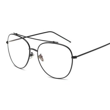 ESBG2Q Unisex Fashion Brand Designer Aviation Metal Glasses Frame Unique Top Clear Lens Frames Feamle Eyewear Optical Glasses