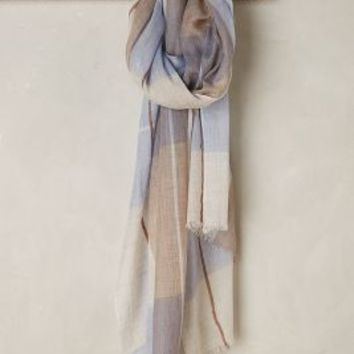 Niagara Plaid Scarf by Anthropologie in Blue Size: One Size Scarves