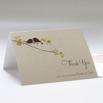 Love Bird Thank You Card Spring (Pack of 1)