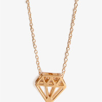 Cutout Diamond-Shaped Necklace
