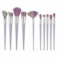 Unicorn Make Up Brushes 10pc