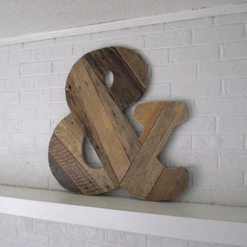 Wooden & Sign Custom Wood Ampersand