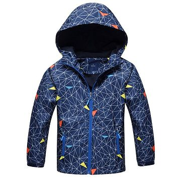 Children Boys Outwear Coats New 2018 Spring Fashion Waterproof Windproof Hooded Jackets For 3-12y Boys Brand Kids Sport Clothes