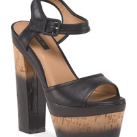 Leather Evelyn Platform Heel - Heels - T.J.Maxx