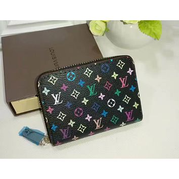 LV Louis Vuitton new zipper card package credit card set small coin purse F-WMXB-PFSH #6