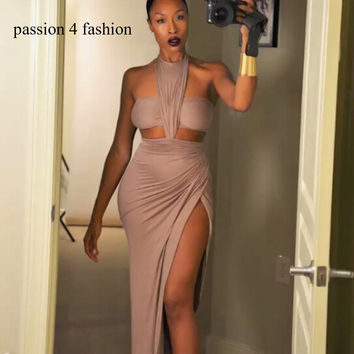 2018 women sexy bandage dress evening party night club women clothing  sleeveless O-Neck Sheath Autumn bodycon dress vestidos