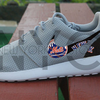 Nike Roshe Run Grey New York Mets Baseball Custom