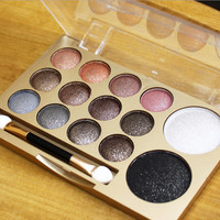 14 Color New Makeup Women Natural Warm Eyeshadow+Blush Palette Set with Brush + Free Shipping