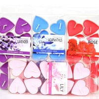 10pcs/4x2cm Heart Shaped  Sented Candles