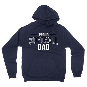 Proud softball dad  team squad game day sport dad love softball  Father's day hoodie