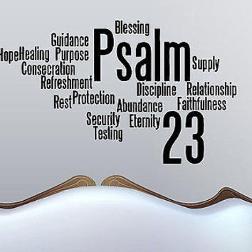 The Lord is My Shepherd - Psalm 23 quote wall sticker decal wall art decor 5542