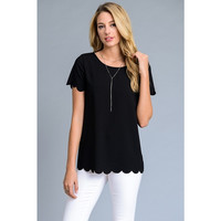 Molly Scalloped Tee