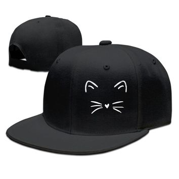 Cute Cat Kitty Kitten Cats Animal Lover Breathable Unisex Adult Womens Hip-hop Caps Mens Hip-hop Hats