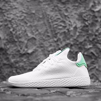 Adidas Pharrell Williams Tennis HU W - Bianco/Verde Sport Shoes Running Shoes