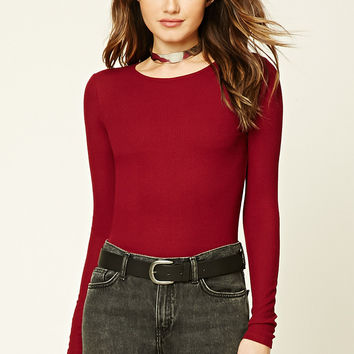 Ribbed Long-Sleeve Top