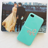 Tiffany iphone 4 case iphone 4s case -Austrian crystal decorated tiffany phone case