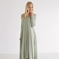 Swing Dress in Spearmint