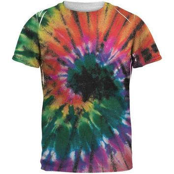 ESBGQ9 Smokey Spiral Tie Dye All Over Adult T-Shirt