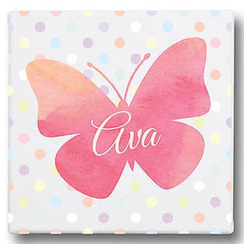 Personalized Butterfly Gallery Wrapped Canvas Art