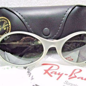 """Kalete Ray-Ban *NOS USA Vintage B&L Orbs """"Combo"""" Crystal-Frost W2178 *NEW Sunglasses"""
