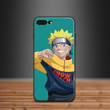 Naruto Fashion Trend Street  Hipster Pattern Tpu Soft Silicone Phone Case Shell For Apple IPhone 5 5s SE 6 6s 7 8 Plus X 10