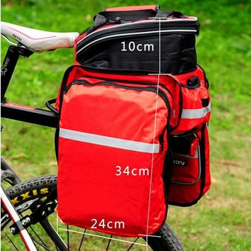 New Waterproof Polyester Mountain Road Cycling Bicycle Bag Bike Double Side Rear Rack Tail Seat Trunk Bag Pannier