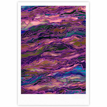 "Ebi Emporium ""Marble Idea! - Rich Jewel Tone"" Purple Pink Fine Art Gallery Print"
