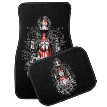 Skulls Woman Tattoo Car Floor Mat