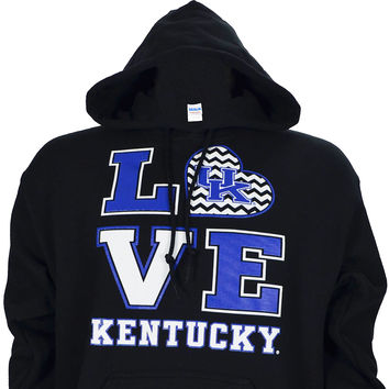 University of Kentucky Love KY on Black Hoodie