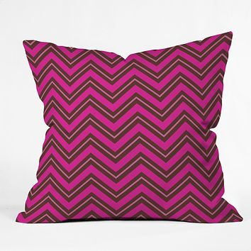 Caroline Okun Chocolate Chevron Throw Pillow