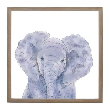 Spring Baby Jungle Animals Elephant Face Magnet Board