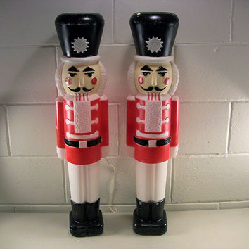 SOLD!  Vintage Christmas Blow Mold Nutcracker Outdoor Decor