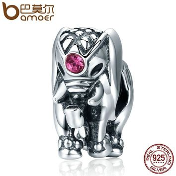 Genuine 100% 925 Sterling Silver Thailand Lucky Elephant Charms fit Women Bracelets Fine Jewelry SCC321